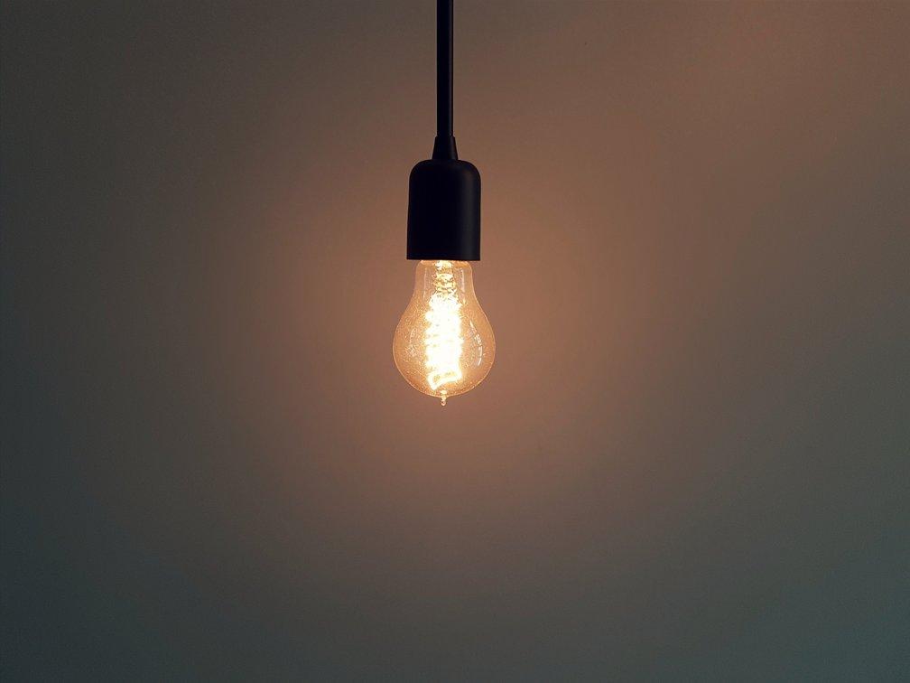 Een ledlamp met groene energie