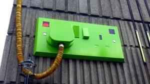 Groen stopcontact - groene stroom