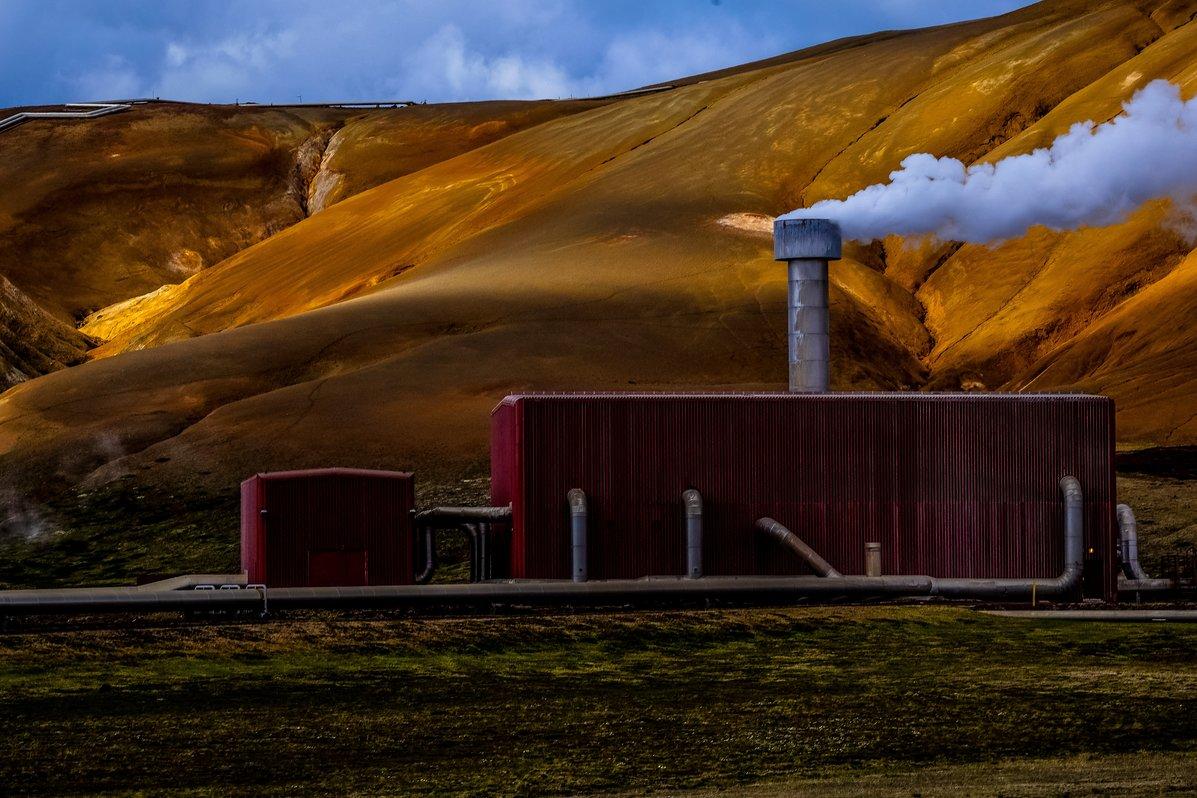 Geothermische centrales produceren groene energie uit de warmte van de aarde